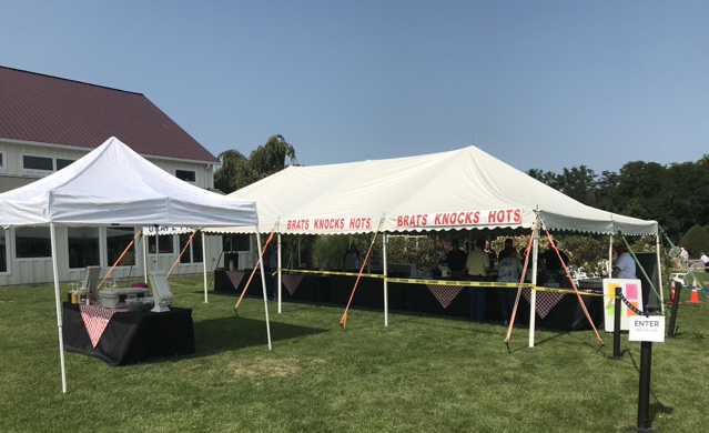 Manhill Food Service catering tent
